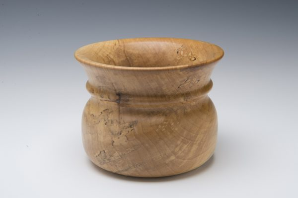 Tuckaway Woodturning Maple Bowl with detail